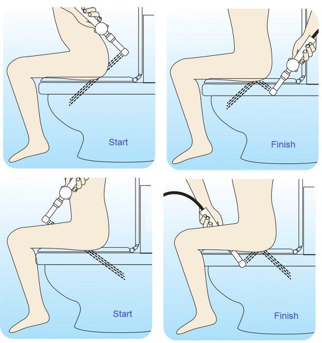 Cách sử dụng vòi xịt bồn cầu Toto đúng cách