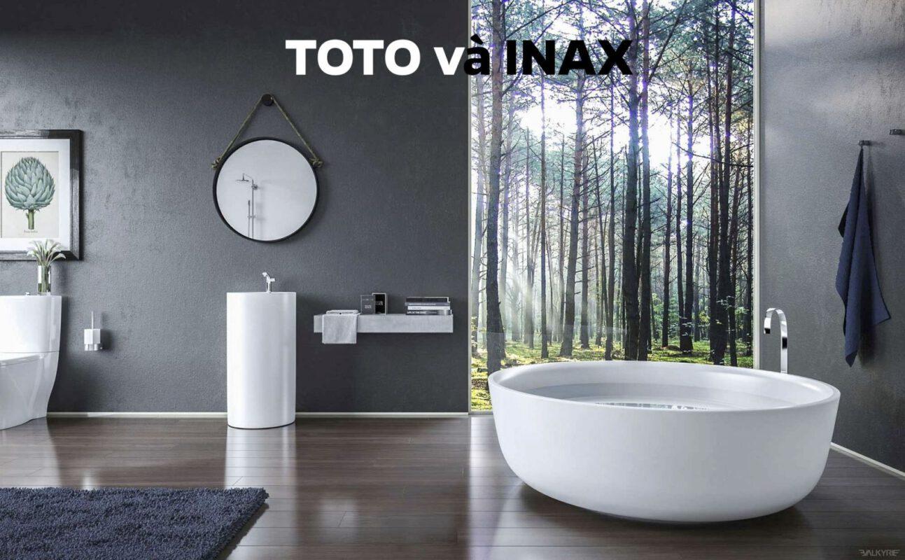 so sánh bồn cầu Inax và Toto