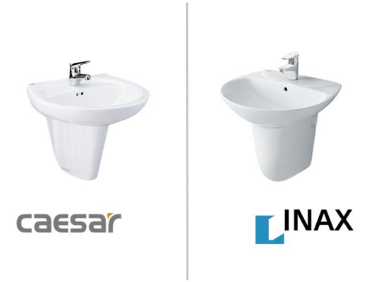 so sánh lavabo inax và caesarso sánh lavabo inax và caesar