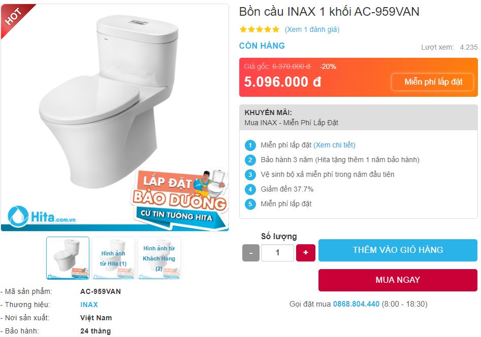 Giá bán INAX AC-959VAN