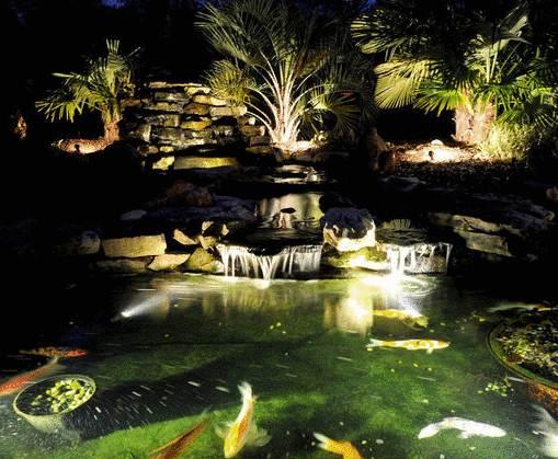 Bóng led âm nước hồ cá, bể bơi, đài phun ra nước