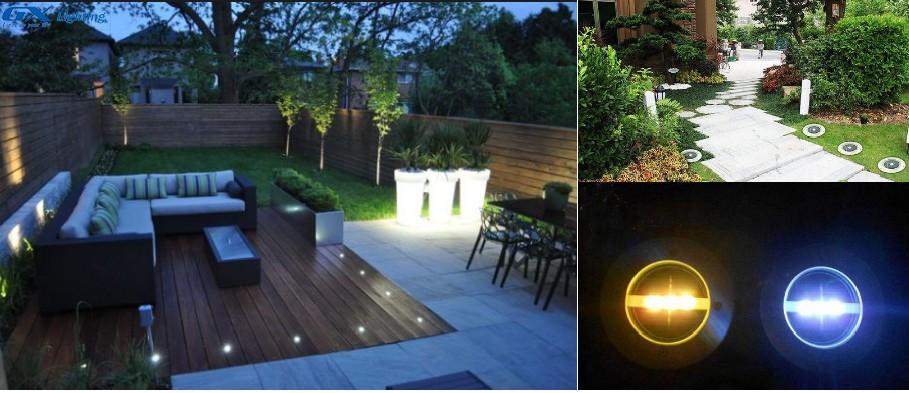 bóng LED âm sàn.