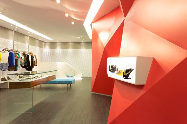 chiếu điểm được dùng để bài trí showroom
